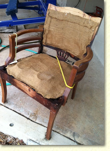 Chair before restoration