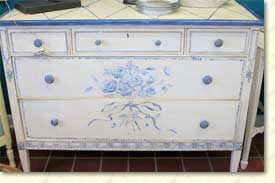 Country French painted chest